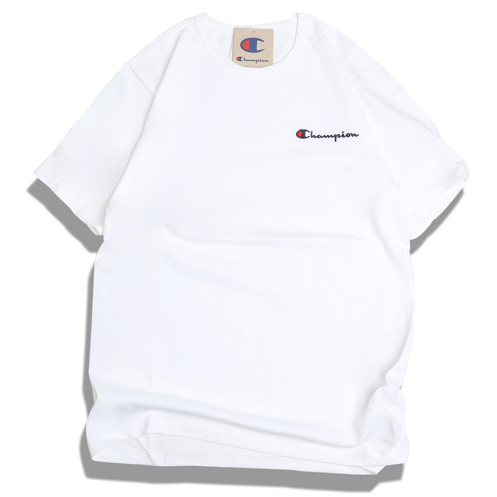 Champion Embroidered Script Logo Tee | White - CROSSOVER