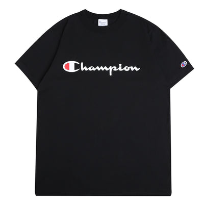 Champion JapanScript Logo Tee | Black - CROSSOVER