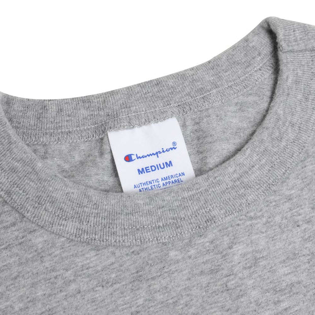Champion JapanScript Logo Tee | Oxford Gray - CROSSOVER