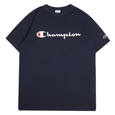 Champion JapanScript Logo Tee | Navy - CROSSOVER