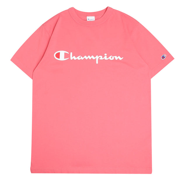 Champion Japan Script Logo Tee | Pink - CROSSOVER