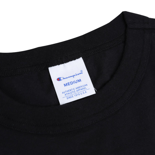 Champion Japan Small Logo Tee | Black - CROSSOVER