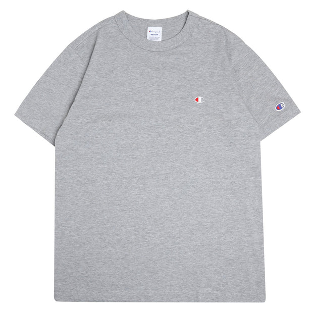 Champion Japan Small Logo Tee | Oxford Gray - CROSSOVER