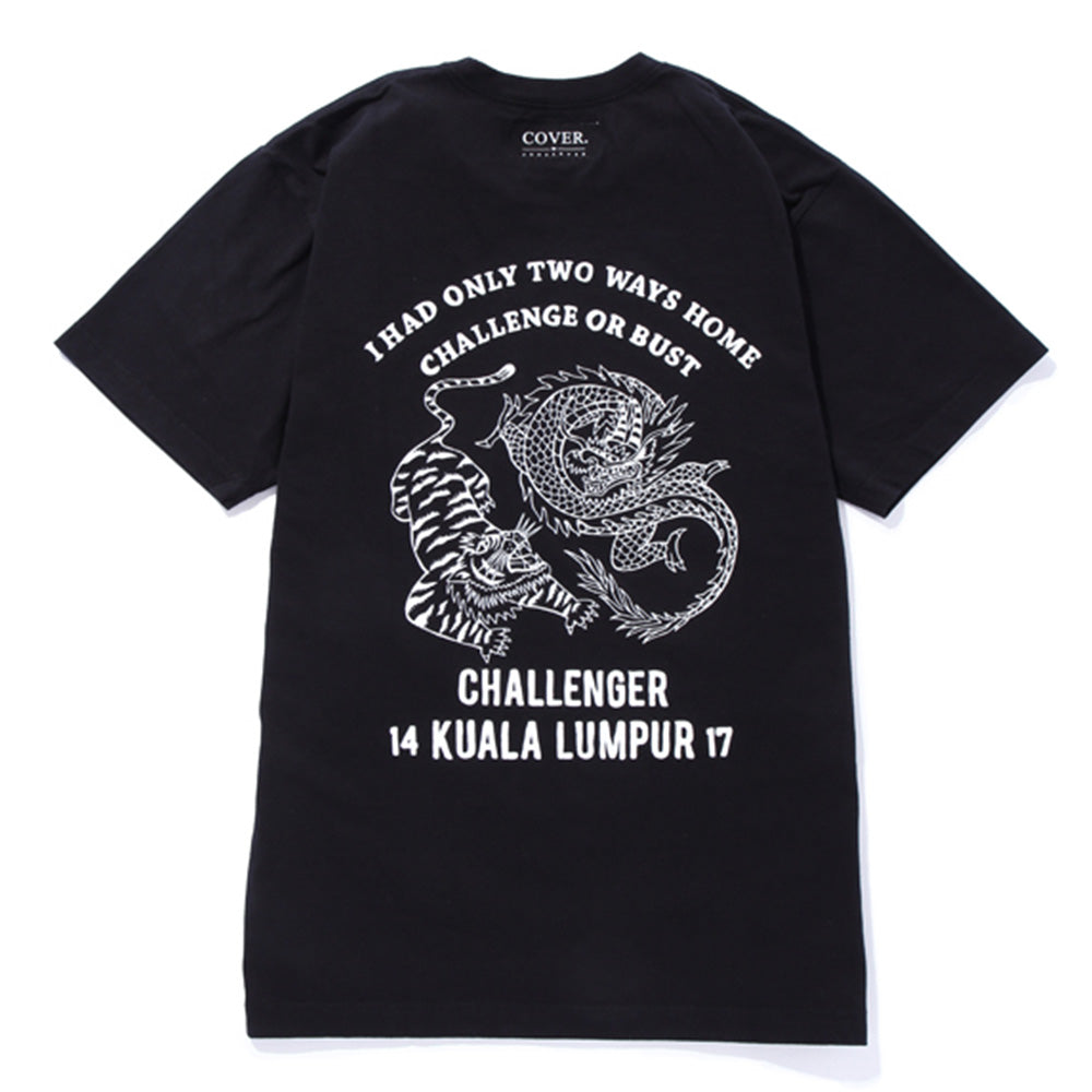 "Challenger COVER x CHALLENGER ""Challenge or Bust"" Tee 