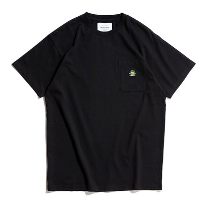 Signature SBVRT Pocket Tee | Black Lime