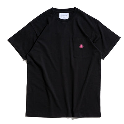 Signature SBVRT Pocket Tee | Black Pink
