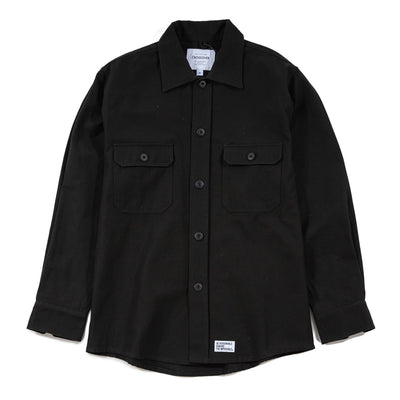 CrossoverMelio Military L/S Shirt Jacket | Black - CROSSOVER