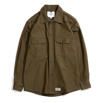 CrossoverMelio Military L/S Shirt Jacket | Olive - CROSSOVER