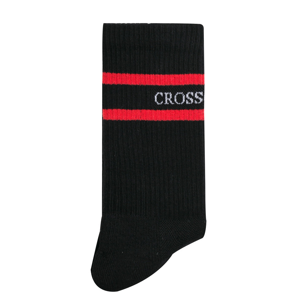 Crossover Cushioned Sock | Black - CROSSOVER