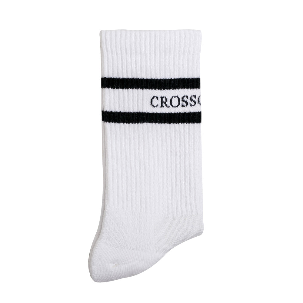 Crossover Cushioned Sock | White - CROSSOVER