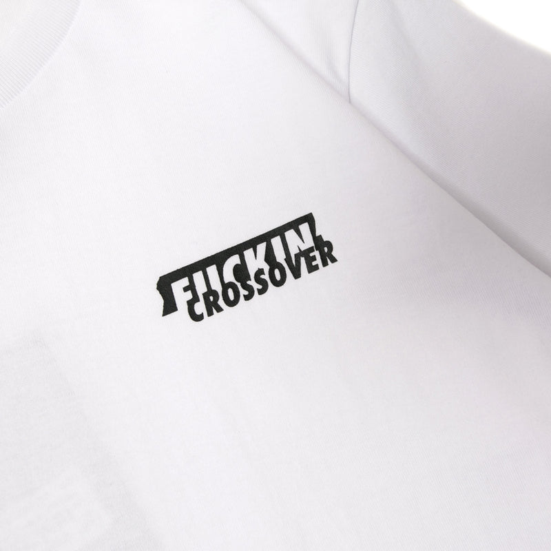 Crossover Fuckin' Crossover Tee | White - CROSSOVER ONLINE