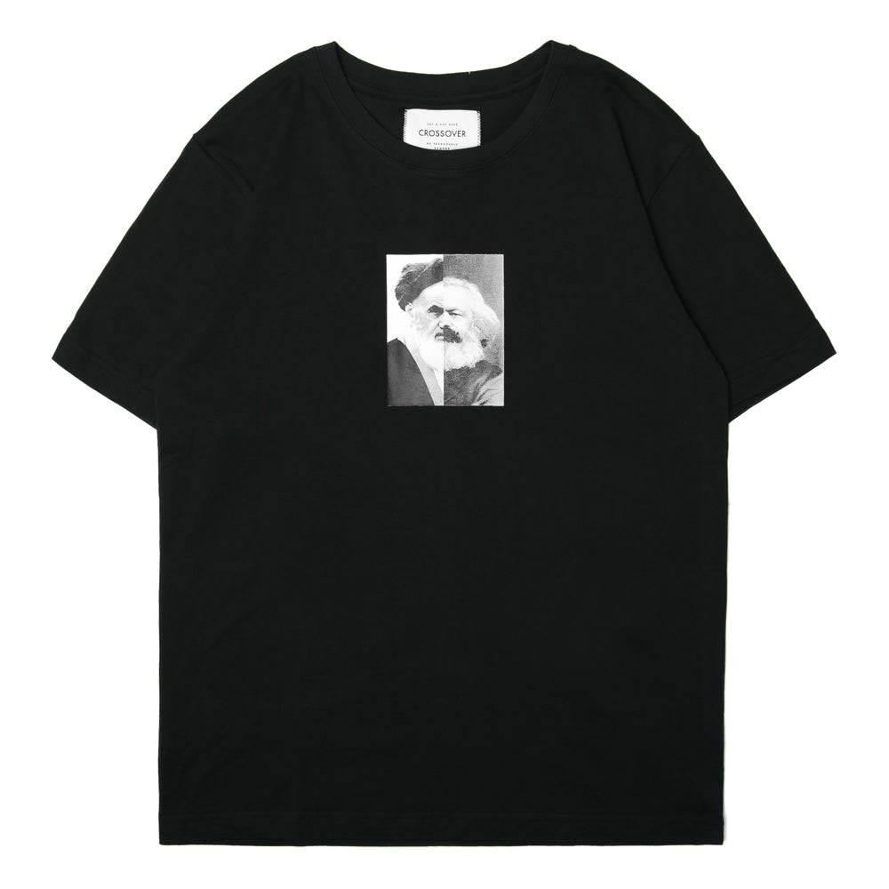 Crossover Khomeini Marx Tee | Black - CROSSOVER ONLINE