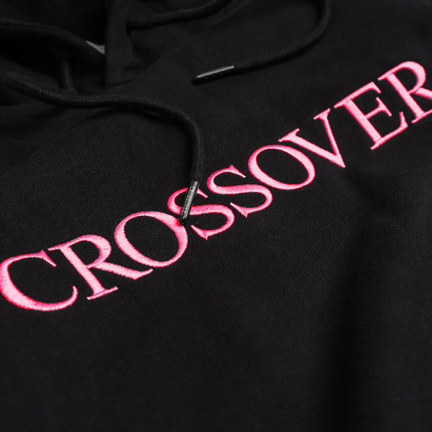 Crossover Signature Pullover Hoodies | Black Pink - CROSSOVER