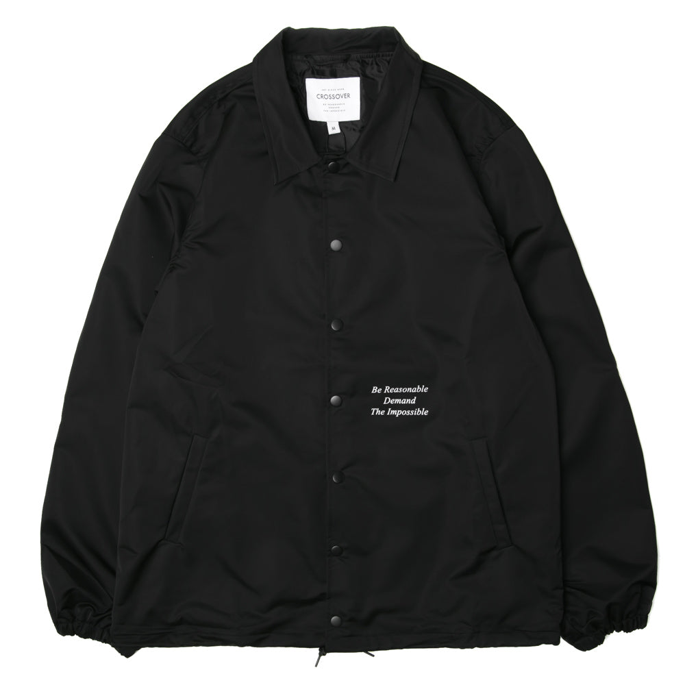Crossover Chaos Theory Coach Jacket | Black - CROSSOVER