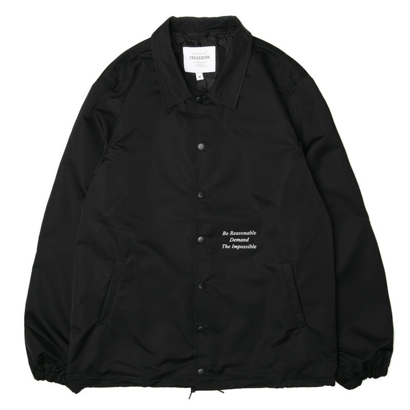 Crossover Chaos Theory Coach Jacket | Black - CROSSOVER ONLINE