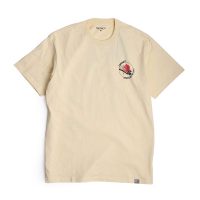 Carhartt WIP Hotline Tee | Pale Yellow - CROSSOVER