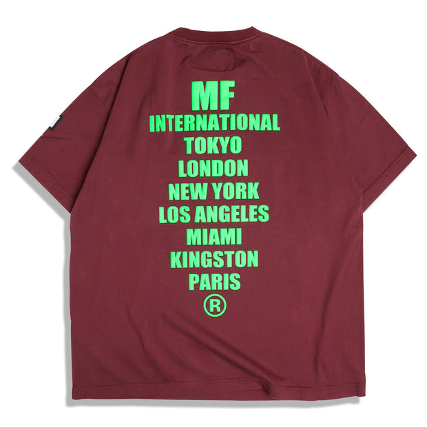 Neighborhood Major Force Tee | Burgundy - CROSSOVER