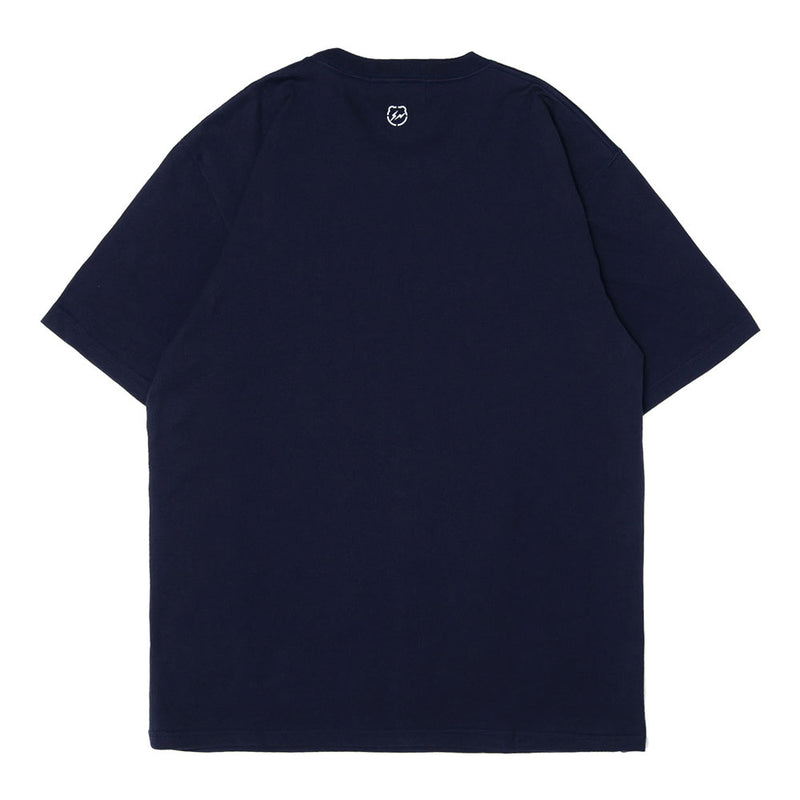 Medicom Toy Medicom x Fragment Design Polygon BE@RTEE | Navy - CROSSOVER ONLINE