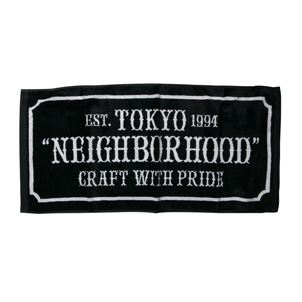 Neighborhood Bar & Shield-L C Towel | Black - CROSSOVER ONLINE