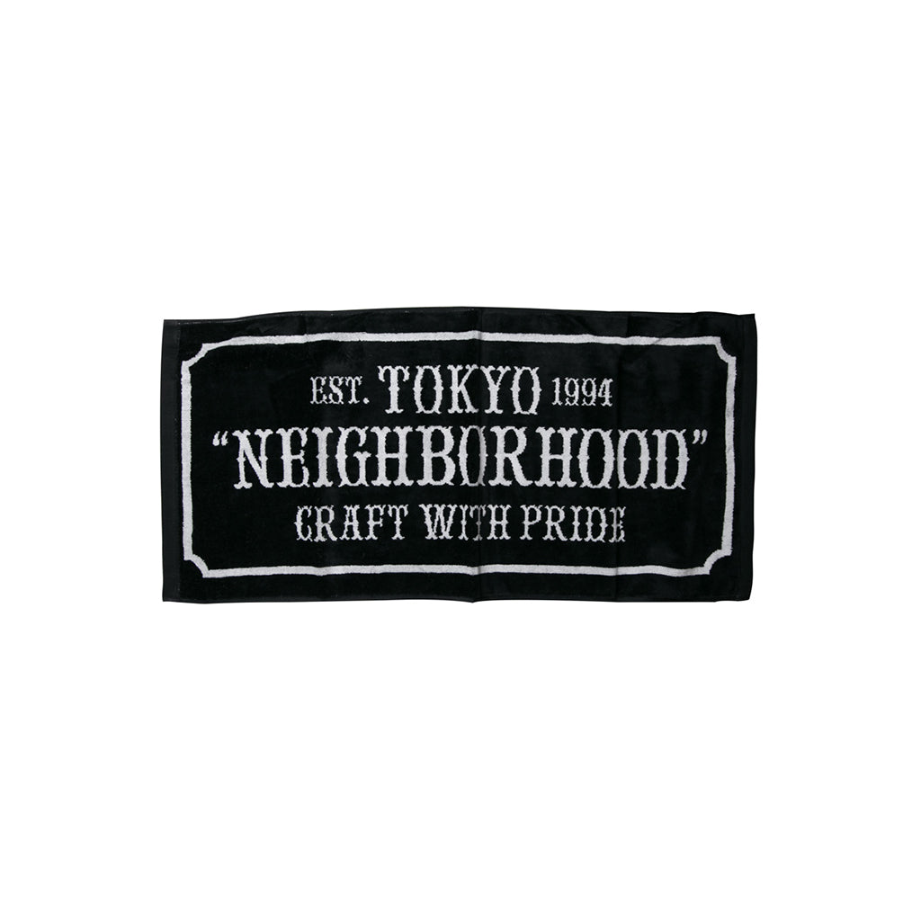Neighborhood Bar & Shield-S C Towel | Black - CROSSOVER ONLINE