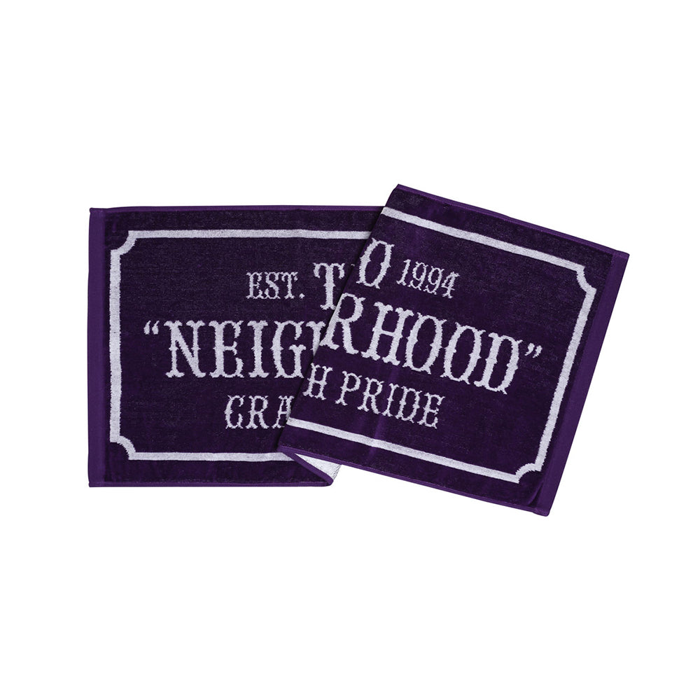 Neighborhood Bar & Shield Small Towel | Purple - CROSSOVER