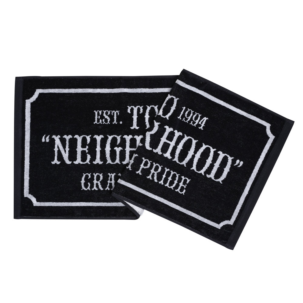 Neighborhood Bar & Shield Large Towel | Black - CROSSOVER