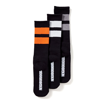 NeighborhoodClassic 3 Pack Socks | Black - CROSSOVER