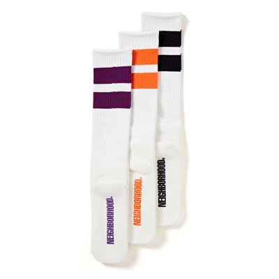 Classic 3 Pack Long Socks | White