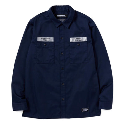 NeighborhoodClassic Work LS. EC-Shirt | Navy - CROSSOVER