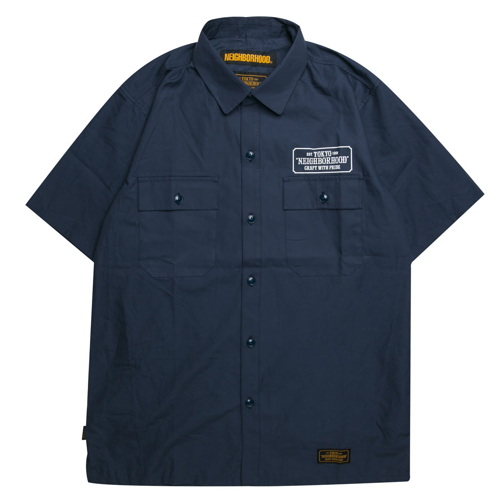 Neighborhood Classic Work C-Shirt | Navy - CROSSOVER ONLINE