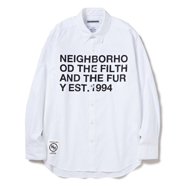 NeighborhoodDesign-1 LS C-Shirt | White - CROSSOVER