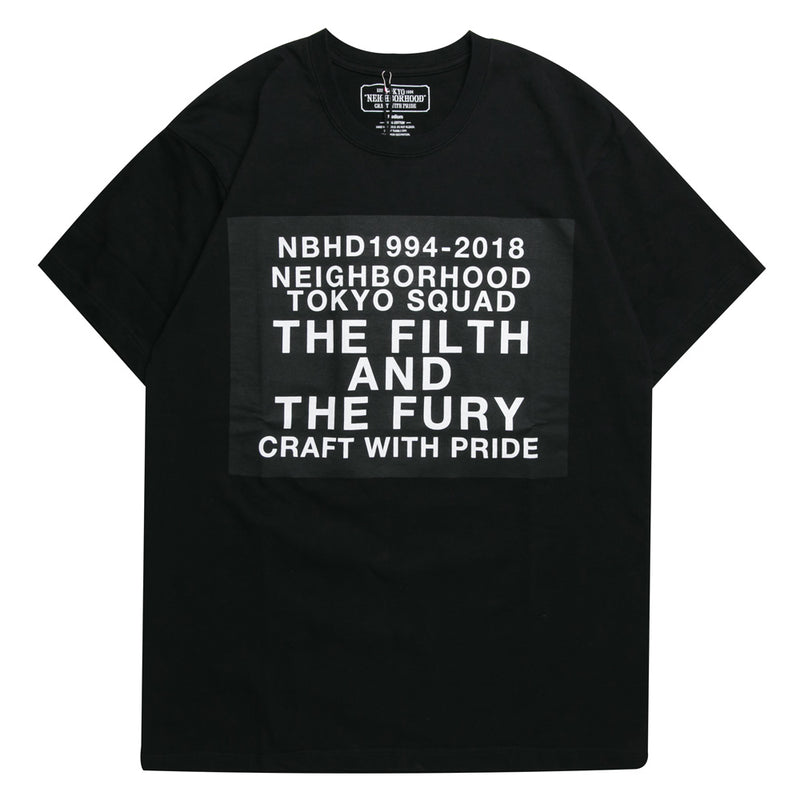 Neighborhood Digital C-Tee | Black - CROSSOVER ONLINE