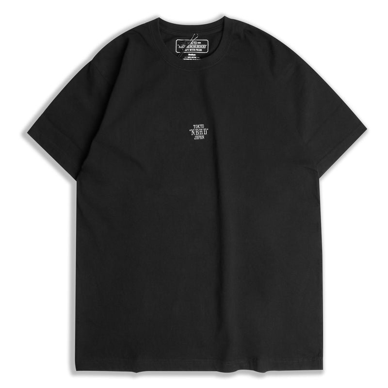 Neighborhood EMB Tee | Black - CROSSOVER