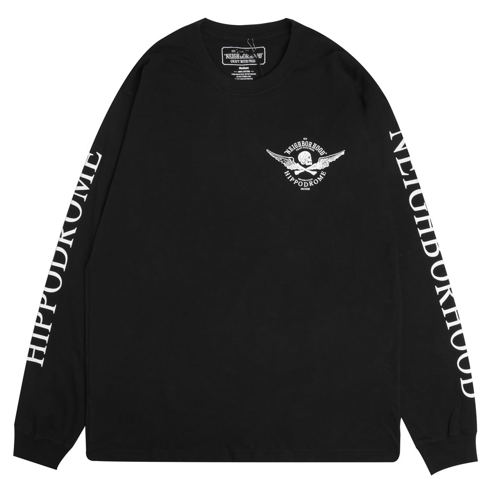 Neighborhood NEIGHBORHOOD x Jeff Decker L/S Tee | Black - CROSSOVER ONLINE