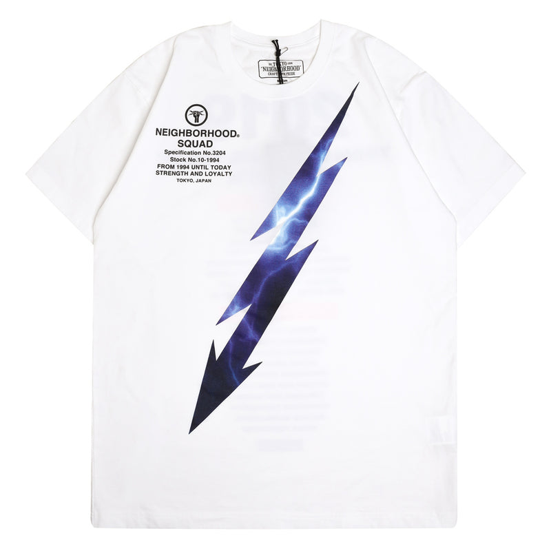 Neighborhood Lightning Tee | White - CROSSOVER