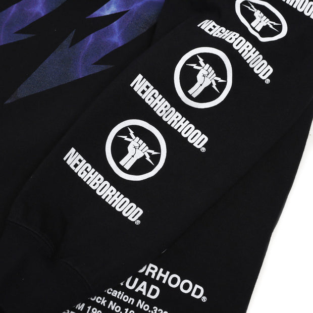 Neighborhood Lightning L/S Tee | Black - CROSSOVER