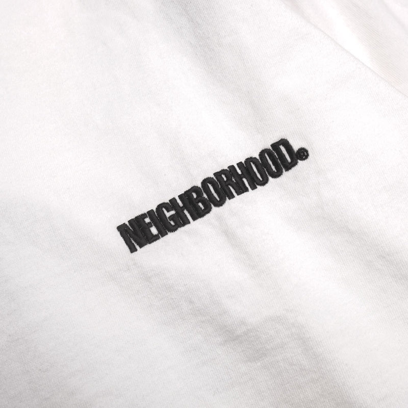 Neighborhood Long Sleeve Squad Tee | White - CROSSOVER ONLINE