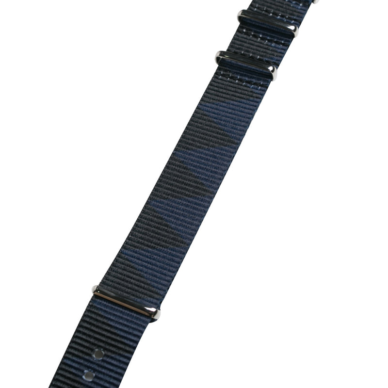 Neighborhood Nato Watch Strap | Black Blue - CROSSOVER ONLINE