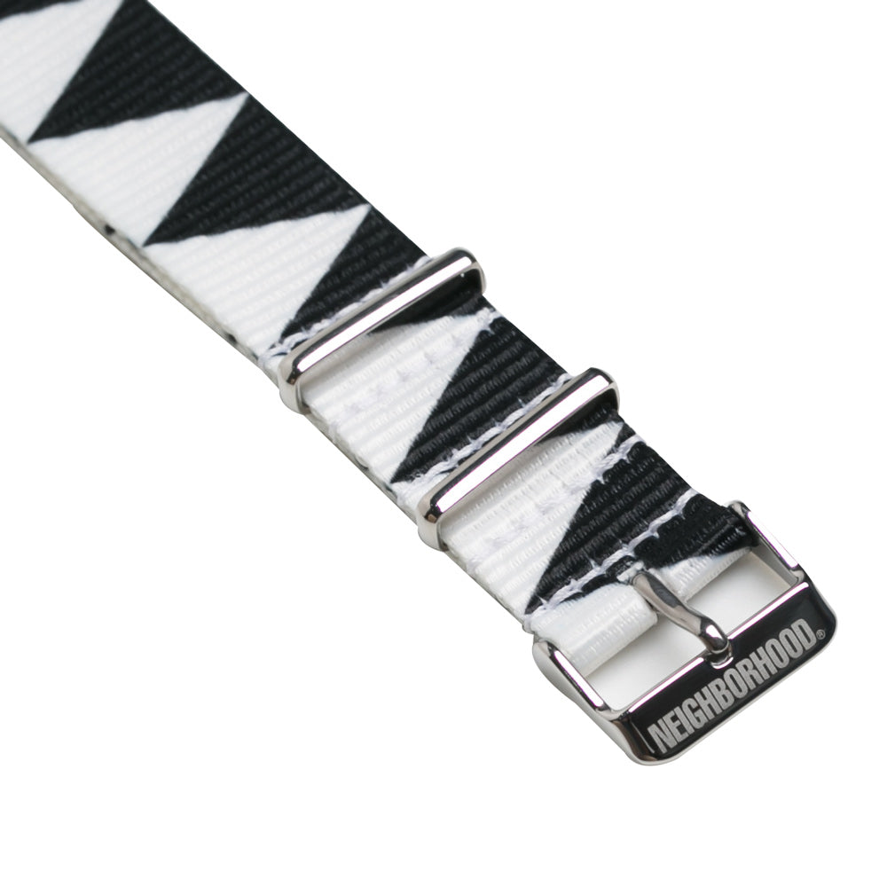 Neighborhood Nato Watch Strap | Black White - CROSSOVER ONLINE