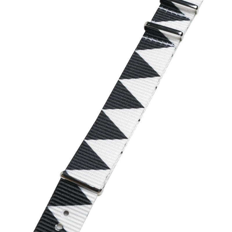 Neighborhood Nato Watch Strap | Black White - CROSSOVER