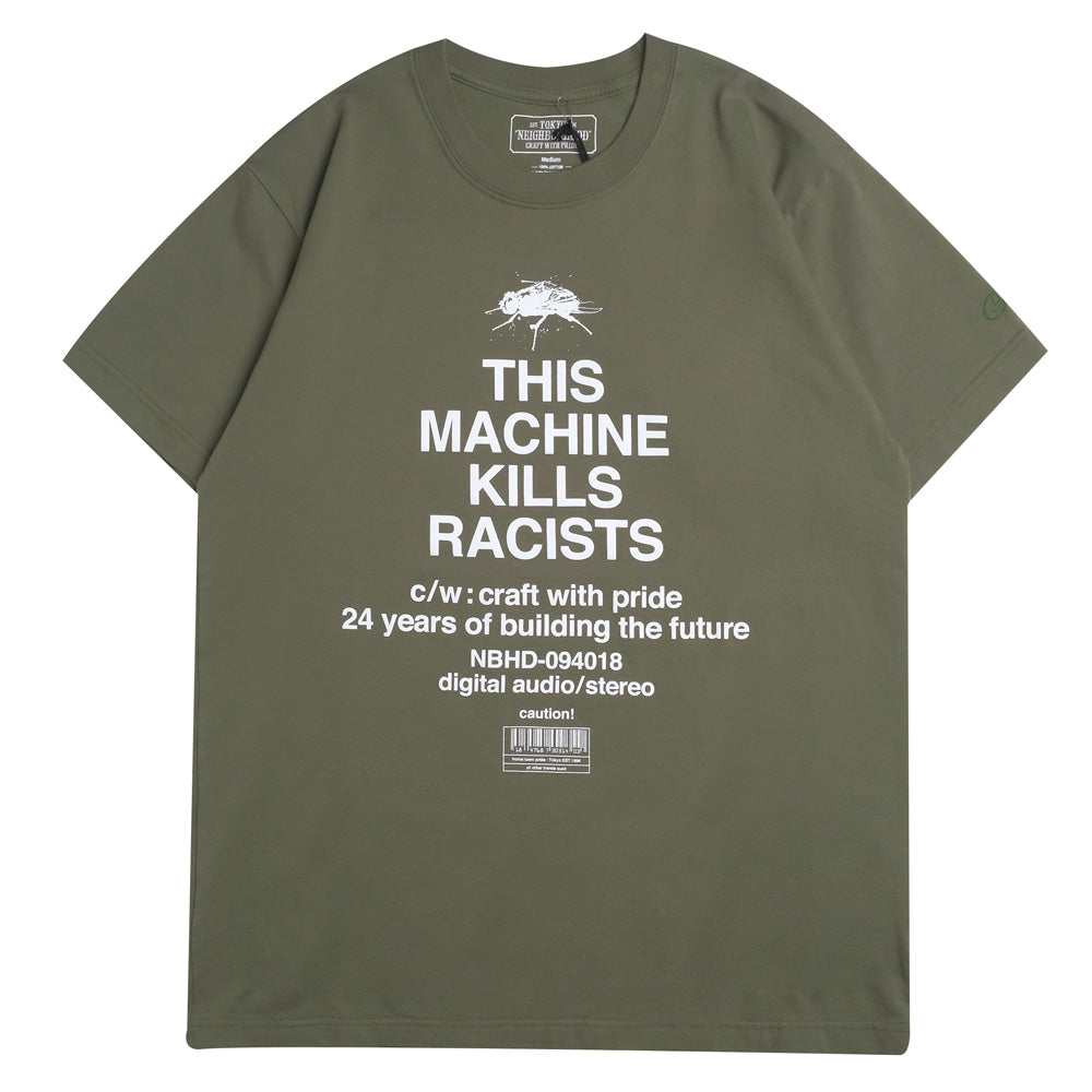Neighborhood Racists Tee | Olive - CROSSOVER