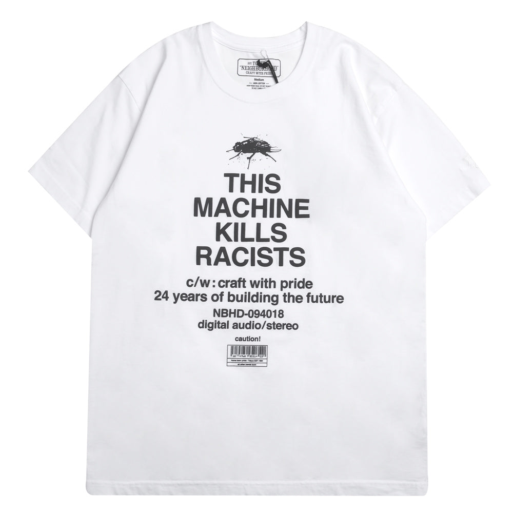Neighborhood Racists Tee | White - CROSSOVER