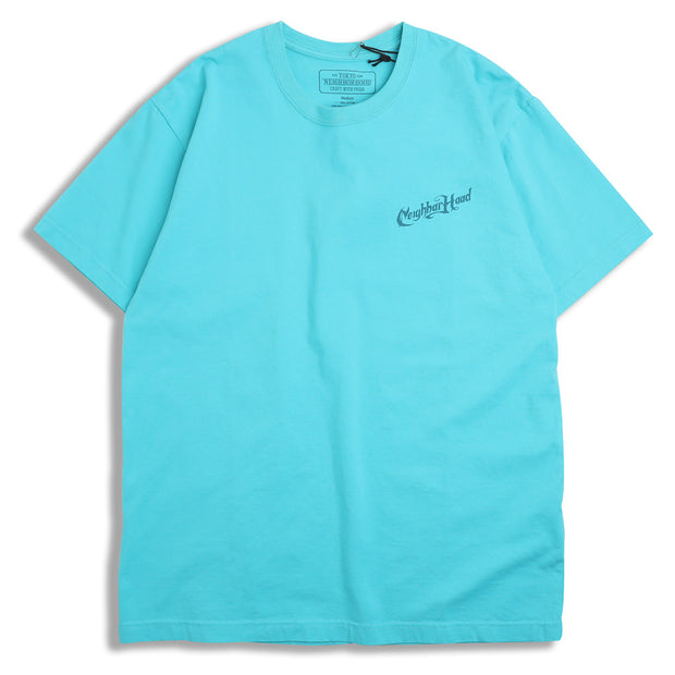 Neighborhood Script Tee | Mint - CROSSOVER