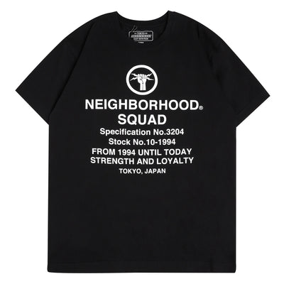 Neighborhood SQD Tee | Black - CROSSOVER