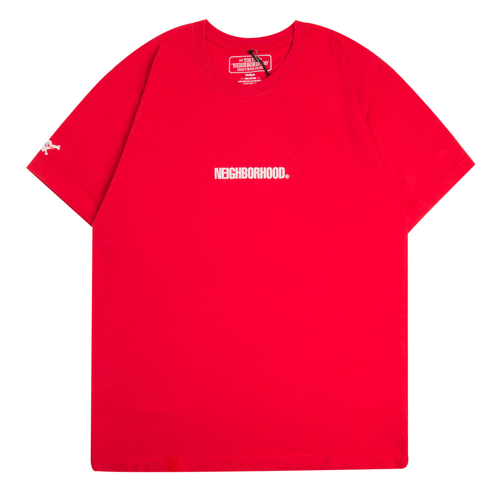 Neighborhood Squad Tee | Red - CROSSOVER ONLINE