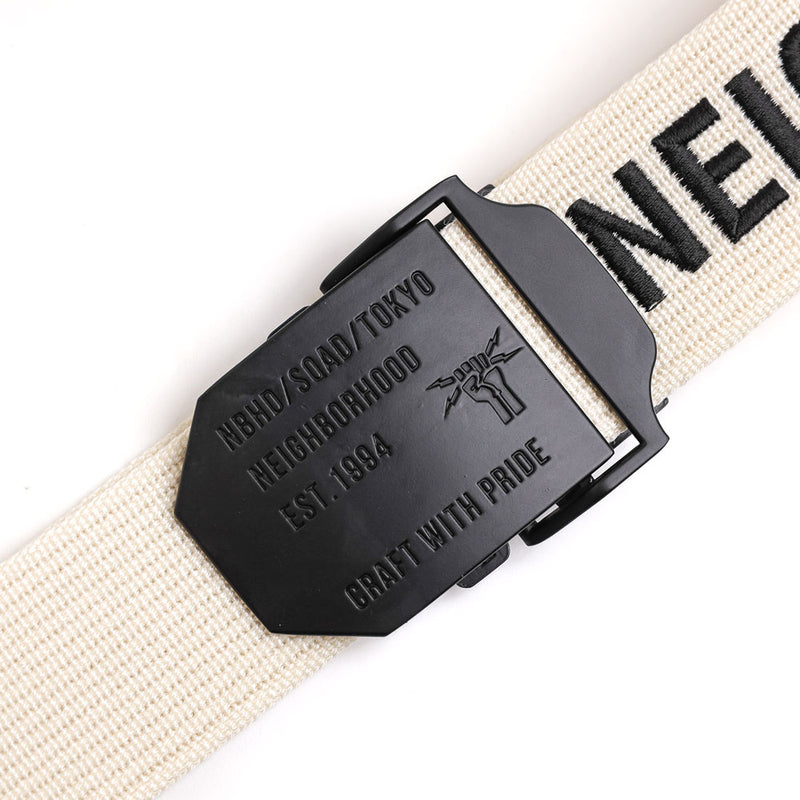 Neighborhood XXV Belt | White - CROSSOVER
