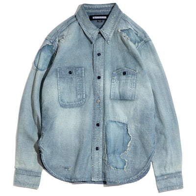 Savage Chambray C-Shirt | Indigo