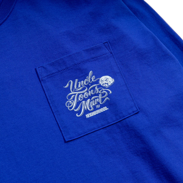 Neighborhood x Mister Cartoon Toons Mart LS. Tee | Blue