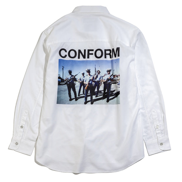 NHON Consume LS. Shirt | White