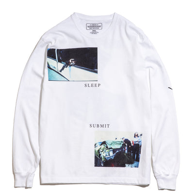 NHON Sleep LS Tee | White